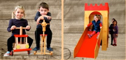 Hračky ze dřeva pro školky a jesle
