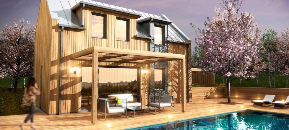 Nízkoenergetické montované domy ze dřeva