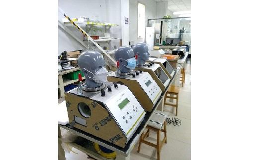 Přístroje na měření prodyšnosti obličejových masek a roušek - výroba dle norem