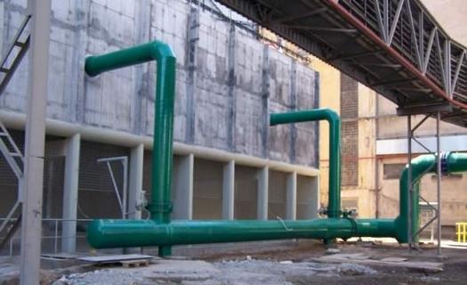 Rozvody potrubí plynu, vody, par pro průmyslová odvětví