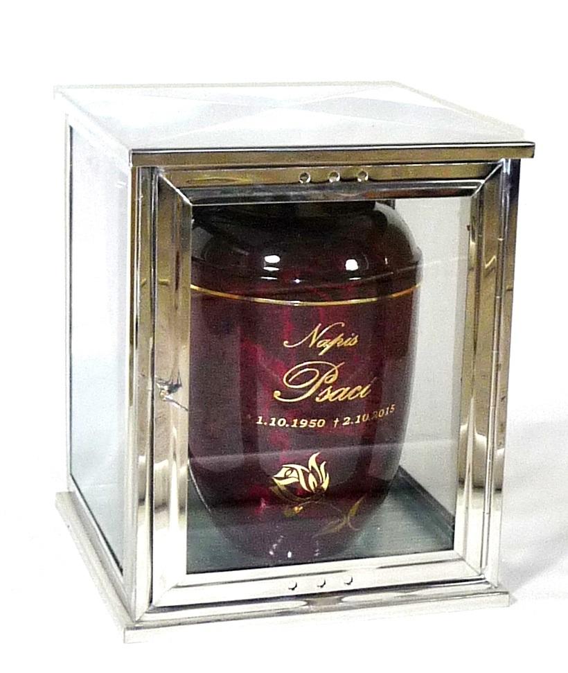 Nerezové vitríny na urny - zakázková výroba