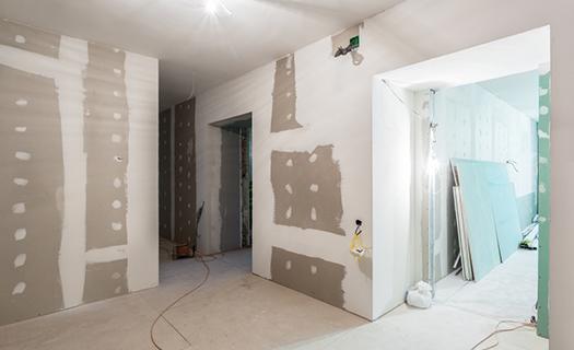 Stavební činnost, zednické práce při rekonstrukcích