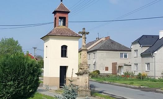 Sloup se sochou sv. Jana Nepomuckého