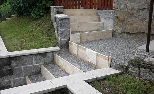 Terasové schody Praha