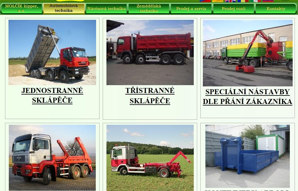 Automobilová a zemědělská technika, MOLČÍK kipper, a.s.