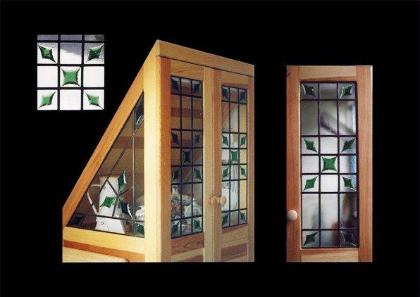 Vitráže, dekorativní skleněné výplně oken dveří, skleněné vitráže