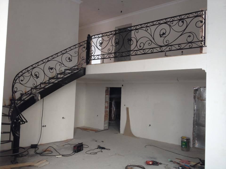 Kované zábradlí a schody