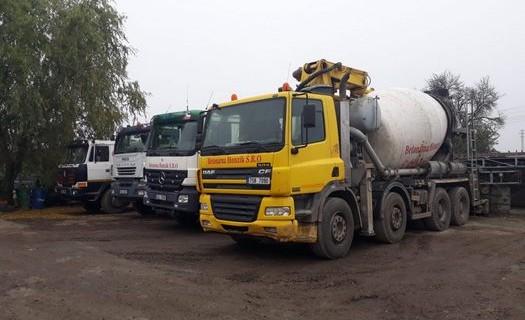 Betonárna Mělník, Mladá Boleslav, výroba betonu a betonových směsí, dovoz betonu vlastními vozidly