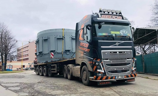 Nadrozměrná přeprava strojů, prefabrikátů a průmyslových výrobků včetně doprovodu