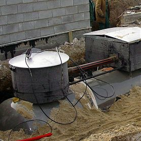 Corrosion protection of water mains, gas lines, bridge structures