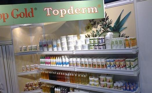 Bylinná kosmetika Top Gold, Topderm Praha, masážní a koupelové oleje, koupelové soli, peelingy