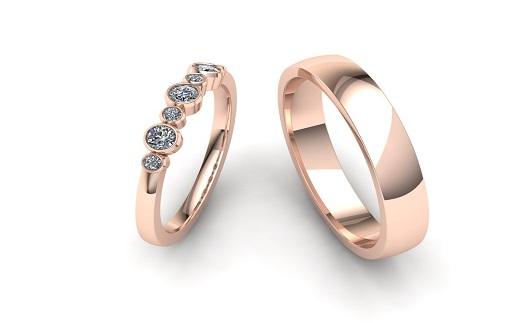 Luxusní snubní a zásnubní prsteny s originálním designem - výroba na zakázku
