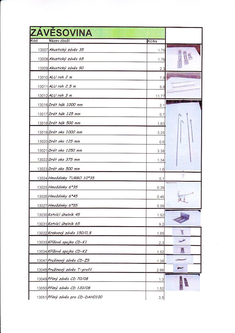 Výroba ocelových kovových profilů, sádrokartonových desek Uh.Brod
