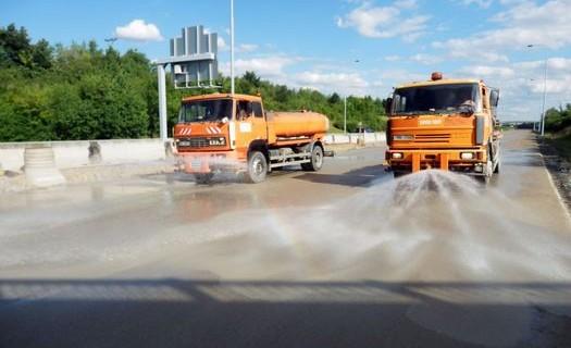 Kropení a vlhčení silnic Olomouc