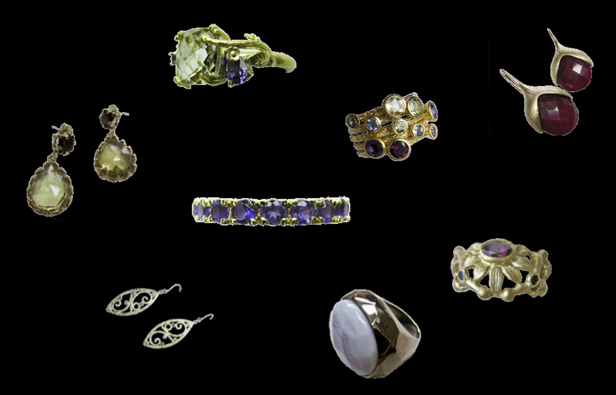 INDIE; Šperky s drahokamy