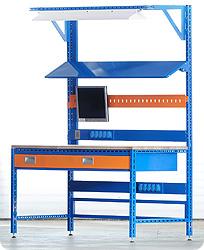 Pracovní stoly - regálový systém FILIP - COLOR SET