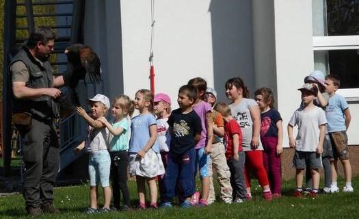 Mateřská škola Dobřichovice, návštěva sokolníka