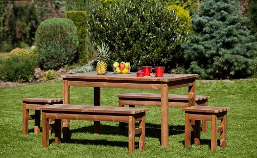 Dřevěný zahradní nábytek z odolného masivu na terasu - prodej za výborné ceny