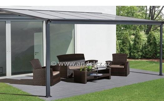 Elegantní hliníkové pergoly pro zastínění terasy a verandy s antikorozním nástřikem