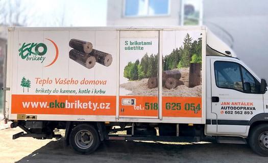 Reklamní polepy vozidel Kyjov