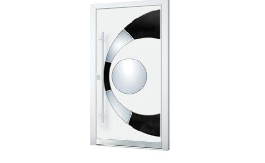 Černobílá elegance - nakonfigurujte si své vlastní vchodové dveře