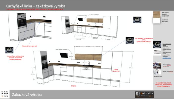 Koncept návrhu bytové části, dohled nad realizací