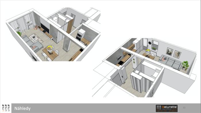 Detailní vizualizace bydlení