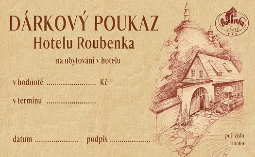 Dárkový poukaz na pobyt v Hotelu Roubenka Beskydy
