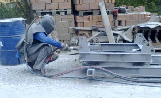Mobilní tryskání ocelových konstrukcí Pelhřimov