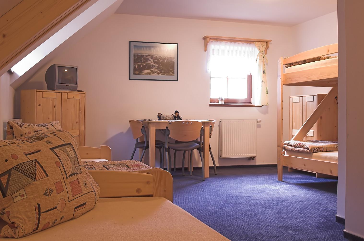 Ubytování v Jeseníkách, v plně vybavených pokojích