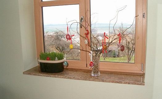 Odolné venkovní a vnitřní okenní parapety z kamene - výroba na zakázku