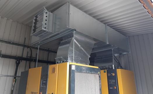 Realizace aneb kompletní dodávka vzduchotechniky - návrh, výroba a montáž zařízení