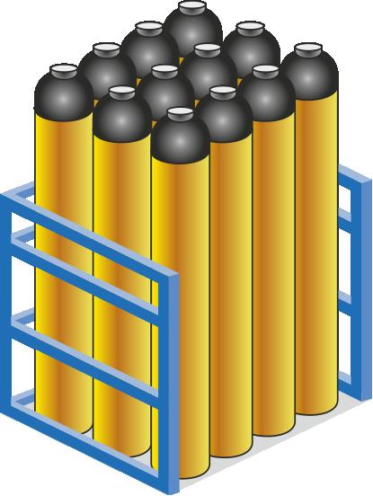 Údržba lahví, plnění technickými plyny