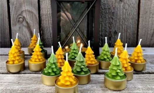 Svíčky z včelího vosku Mikulovice