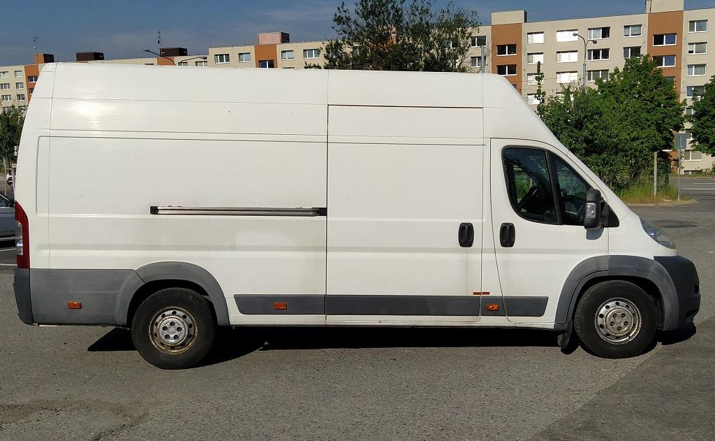 převoz zboží dodávkou Peugeot Boxer