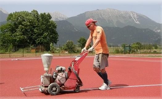 Lajnování sportovních hřišť Slavkov u Brna, lajnování umělých hřišť a víceúčelových sportovišť