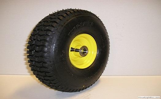 Výroba disků, pneumatik a kompletních kol pro travní sekačky, jednoosé přívěsné vozíky a žací adaptéry