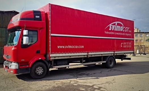 Vnitrostátní a mezinárodní doprava Vsetín, přeprava po celé Evropě vlastními vozy do 24 tun