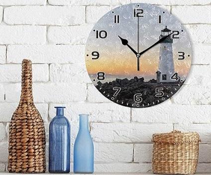 Skleněné hodiny s logem eshop