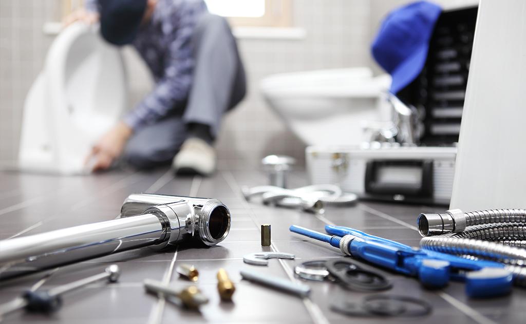 Monitoring odpadního potrubí kamerou, instalatérské práce
