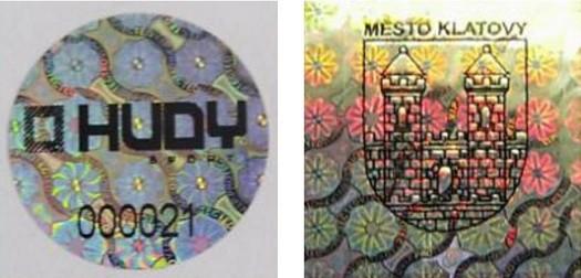 Výroba pečetí a pásek Kralupy nad Vltavou, holografické pečetě