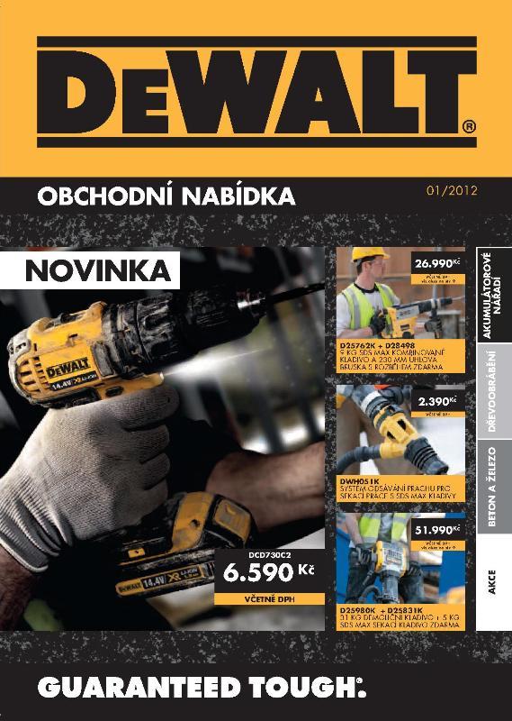 Elektrické ruční nářadí DeWALT Jablonec, vrtačky, kladiva, pily.