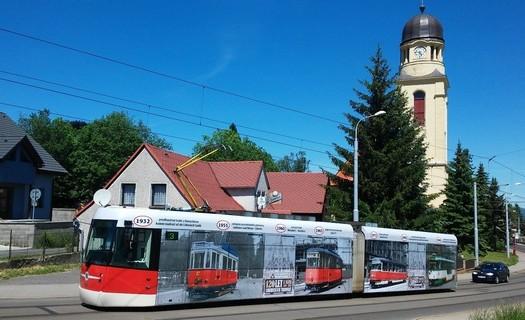Velkoplošná reklama na autobusy tramvaje bilboardy Liberec.
