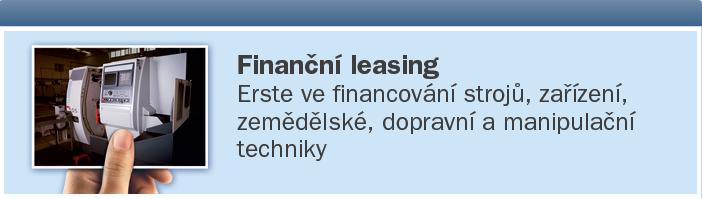 Vyřízení splátkového prodeje a finančního leasingu, finanční služby