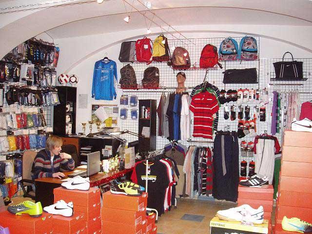 Sportovní vybavení, fotbal, hokej, tenis, Znojmo