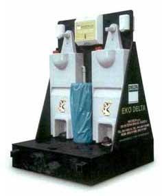 Pronájem mobilní oplocení umývárna mycí žlab odpadkové koše
