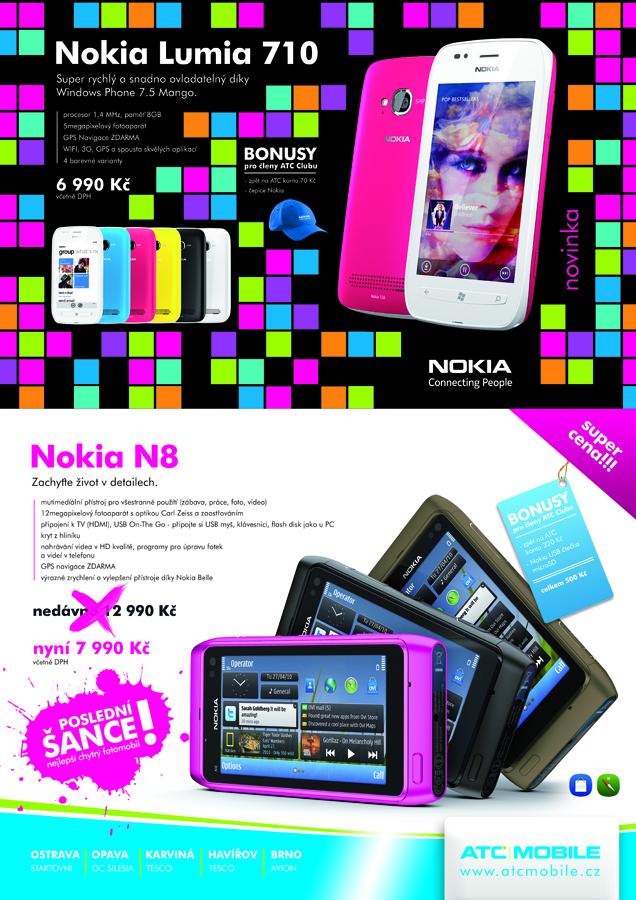 Nokia Lumia 710, Nokia N8 Ostrava, Opava, Havířov, Karviná, Brno