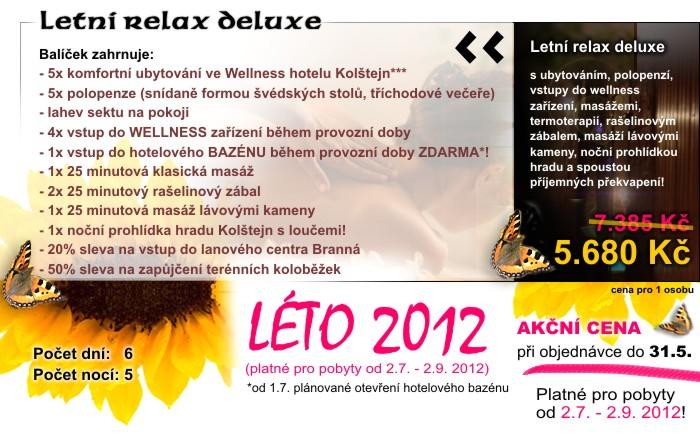 Wellness hotel Kolštejn, letní wellness pobyt-Letní relax deluxe
