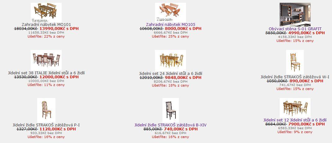 E-shop zahradní nábytek, jídelní židle Ostrava