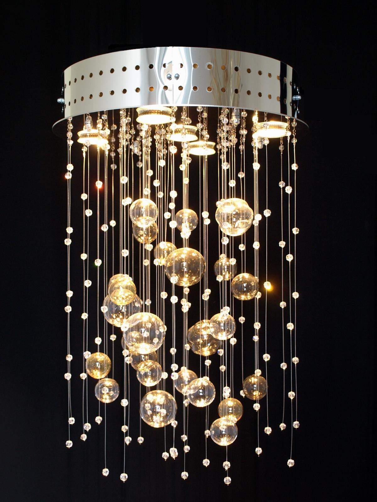 Production crystal light fittings glass chandeliers lighting fixtures lamps.